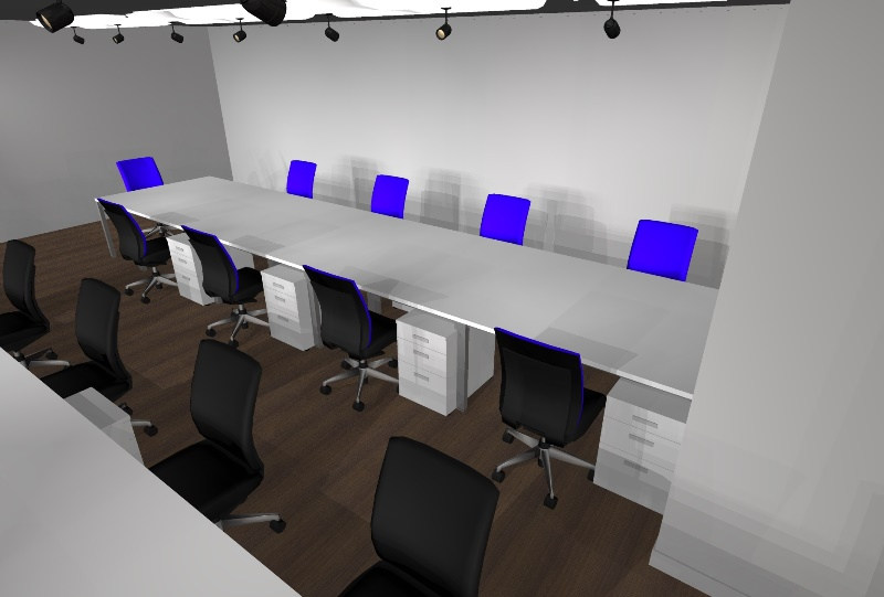 オフィス 青 ブルー