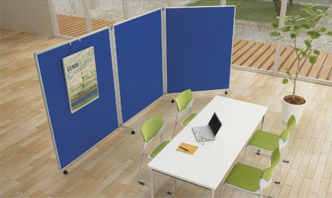 画像②_オフィスのユーティリティープレイヤー、ローパーティションの活用法