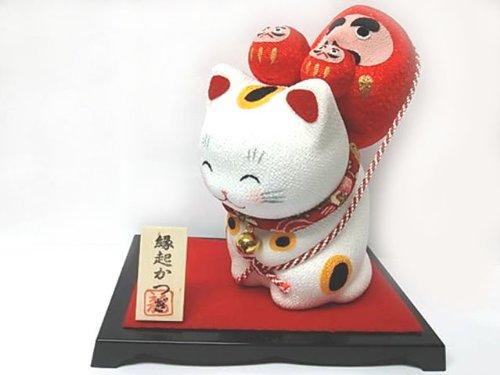 開運☆縁起かつぎ招き猫【だるま】願望成就ダルマ