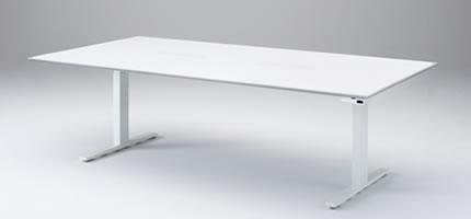電動昇降テーブル設置事例  オカムラ スイフト(Swift)ミーティングテーブルタイプ