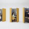【家具ショールーム見学 オカムラ】 オープンタイプのミニマムワークブース  ドレープ(drape)